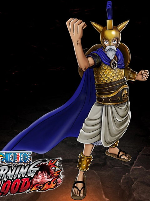 File:One Piece Burning Blood Golden Armor Luffy (Artwork).png