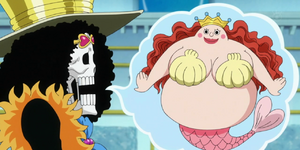 Brook Imagines Shirahoshi