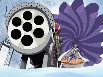 Royal Drum Crown 7-Shot Bliking Cannon