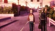 Saitama and Genos leaving trip