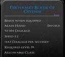 Fername's Blade of Offense