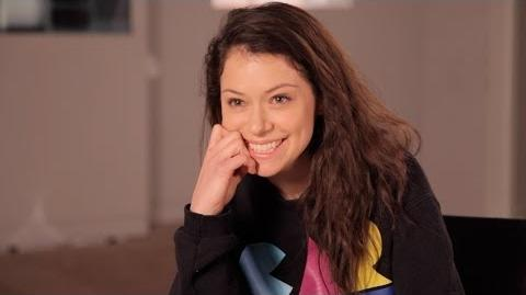 TATIANA MASLANY Answers Who's the Better Kisser Paul or Delphine - ORPHAN BLACK Ask OB