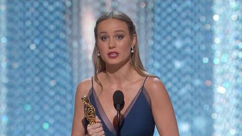 Brie Larson Winning Best Actress