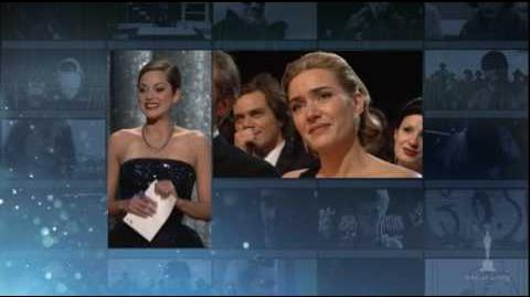"""Kate Winslet winning Best Actress for """"The Reader"""""""