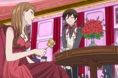 Eclair talking to haruhi