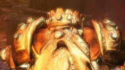 Goldo Golden Statue Torture