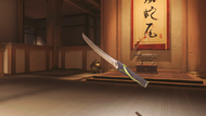 Genji malachite wakizashi