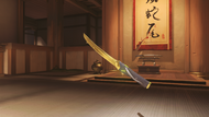 Genji malachite golden wakizashi