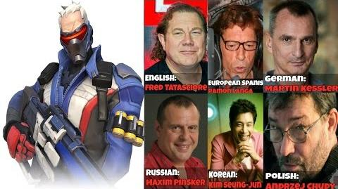 Overwatch Voice Actors Behind The Scenes - Soldier 76 Voice Lines Quotes - Overwatch Voice Actors