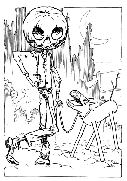 Pumpkin Head Drawing Jack Pumpkinhead And The