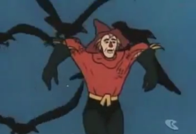 File:8 - Scarecrow Aquaman carried away by crows.PNG