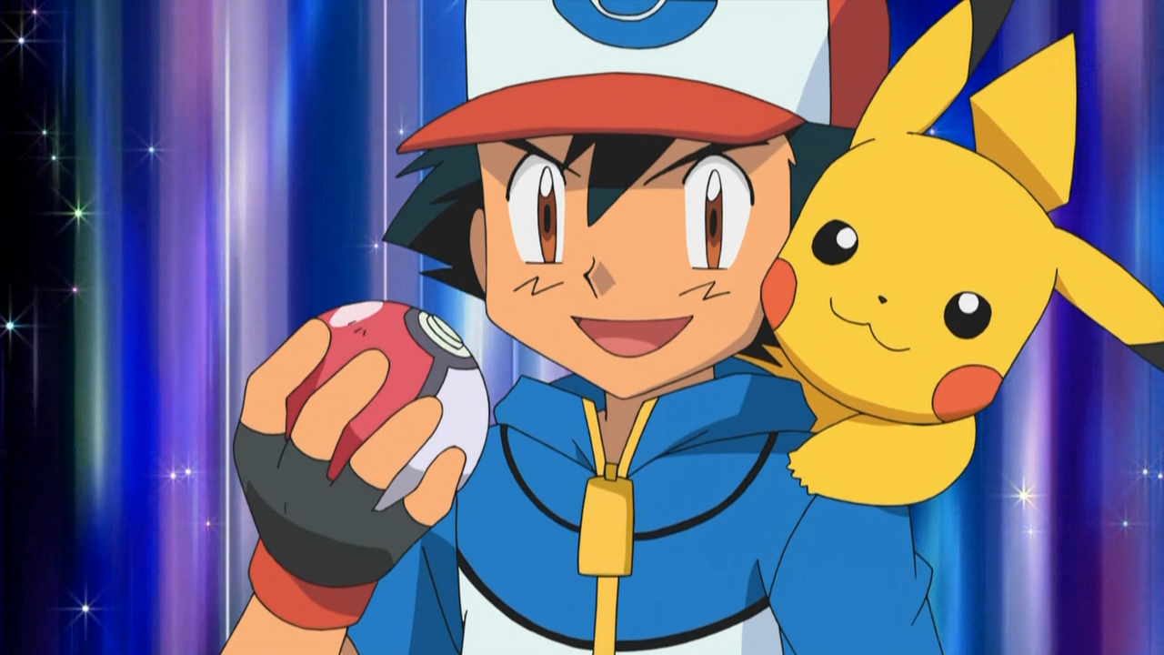 Image ash and pikachu in future episode heroes
