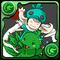 No.734  緑チョコボ&チョコボ士(綠色陸行鳥&陸行鳥士)