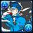 No.733  青チョコボ&チョコボ士(藍色陸行鳥&陸行鳥士)
