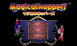 Magical hoppers main menu