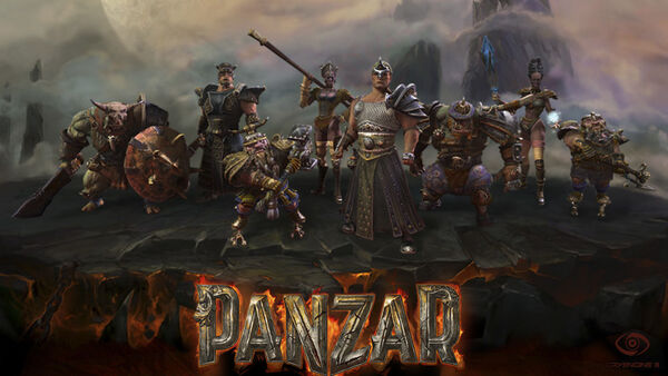 Panzar title screen