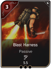 Blast Harness card