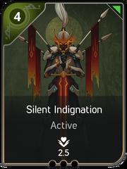 Silent Indignation card