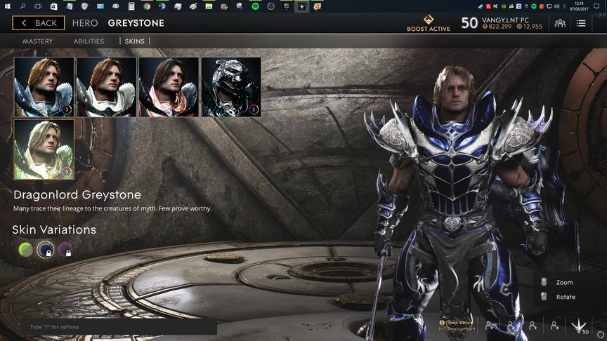 Greystone Blue Dragonlord skin