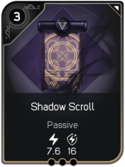 Shadow Scroll card