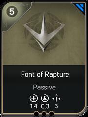Font of Rapture card