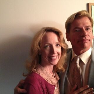 Darlene Hunt andd Todd Sherry on set.