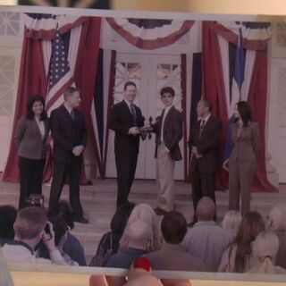 Ben being inaugurated as mayor at the age of eighteen