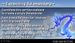 Expanding salamander
