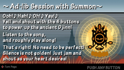 Ad-lib session with summon