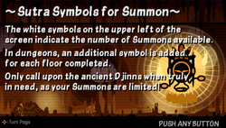 Sutra symbols for summon