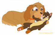 Fanart lani a Sora podle lightningwolf710-d9fcybd