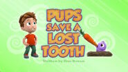 PAW Patrol Lost Tooth Title Card