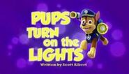Pups turn on the lights titlecard