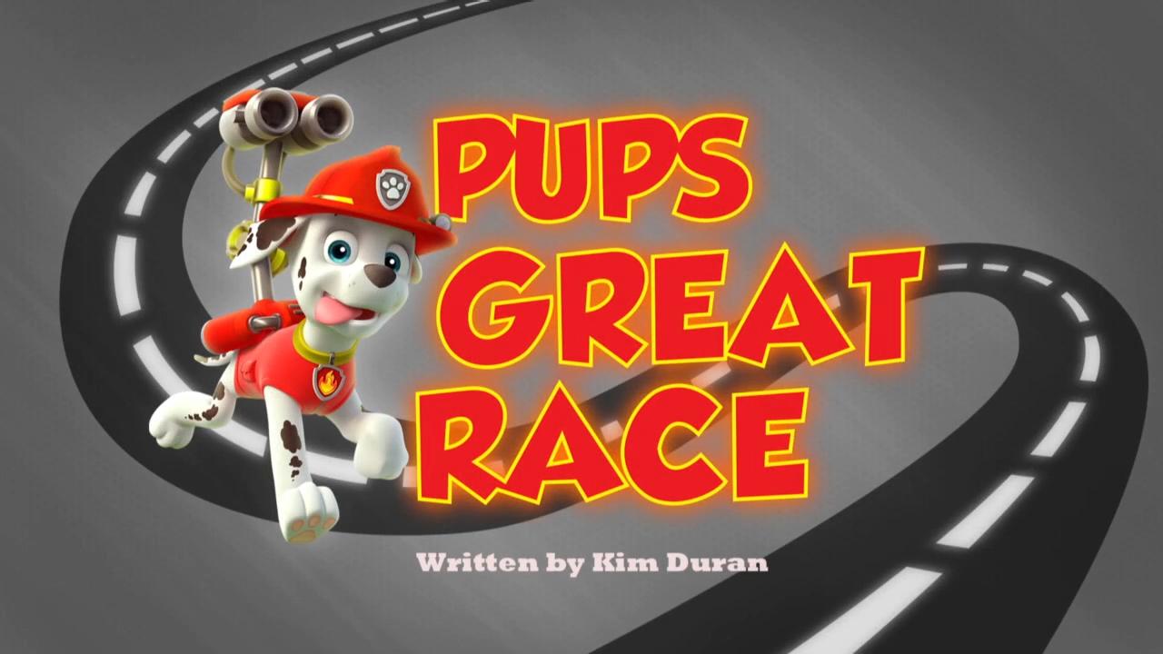Pups Great Race Paw Patrol Wiki Fandom Powered By Wikia
