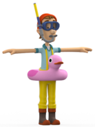 PAW Patrol Cap'n Turbot Captain Swimming Gear (Driftwood Ducky)