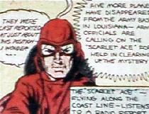 Scarlet ace pilot