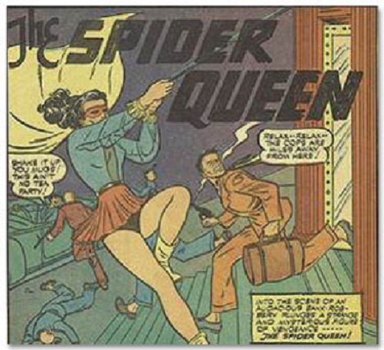 Image result for spider queen golden age comic