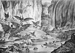 Great-Moon-Hoax-1835-New-York-Sun-lithograph-298px