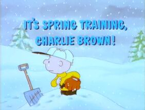 It's spring training charlie brown title card