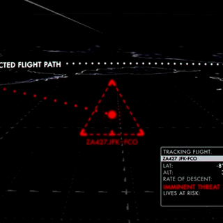 Siguiendo un vuelo secuestrado (Triángulo verde se vuelve rojo)