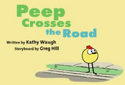 Peep crosses the road