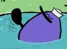 Quack swiming