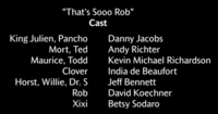 That's Sooo Rob Voice Cast