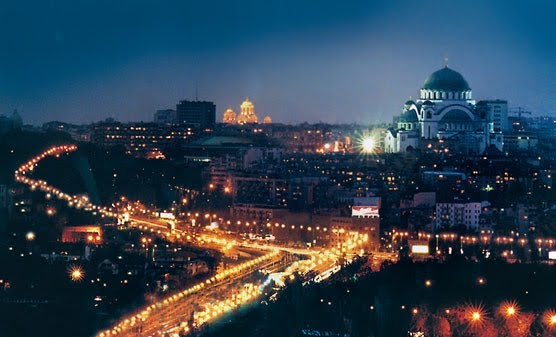 Belgrade Serbia Night