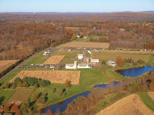 Farm aerial in Perkasie
