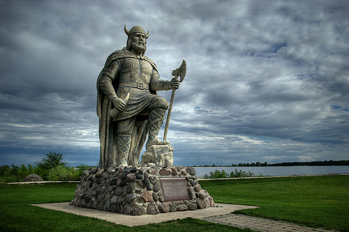 The Viking statue