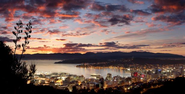 File:Wellington city at dawn panorama photo dillon anderson.jpg