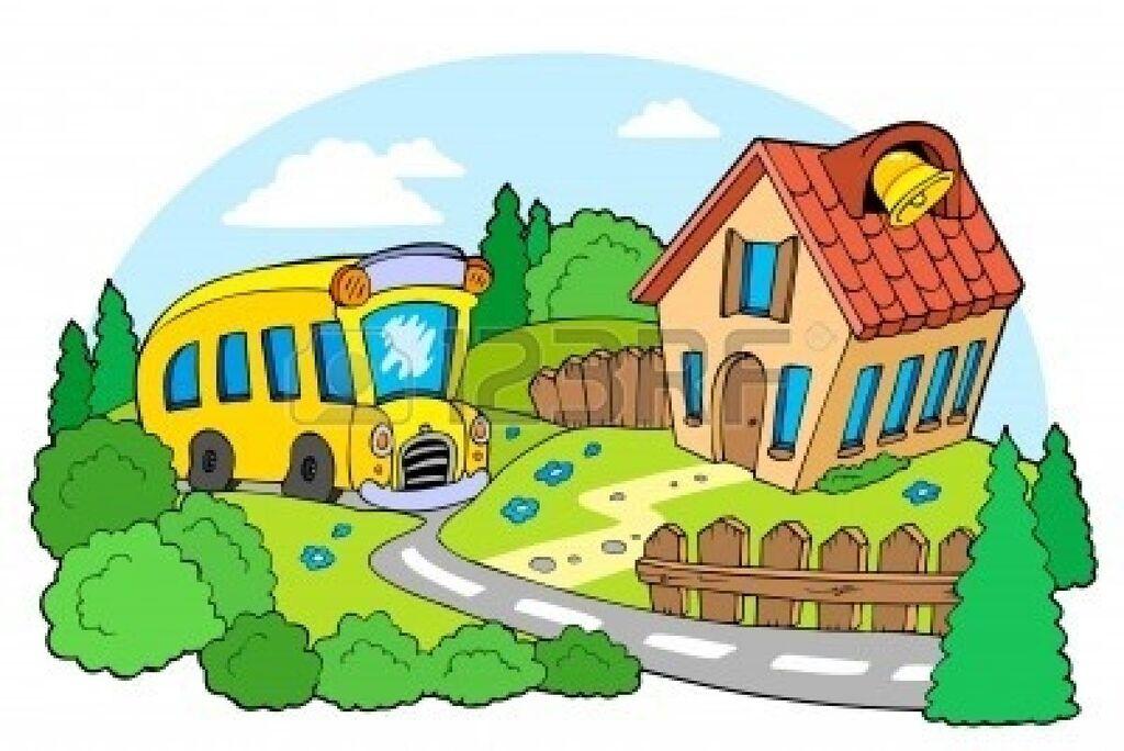 Image - School-building-clipart-7469551-landscape-with-school.jpg ...