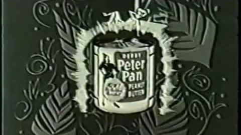 VINTAGE 1950's ANIMATED PETER PAN PEANUT BUTTER COMMERCIAL