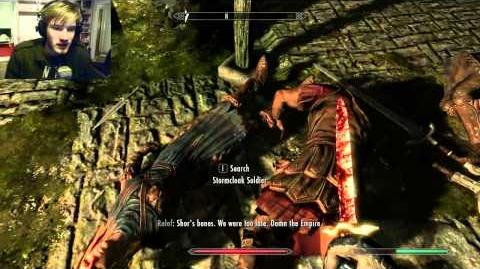Pewdie Plays Skyrim - Part 2 - Don't Call My Mom A Dad!